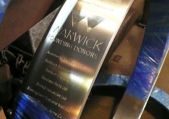 Warwick engraved